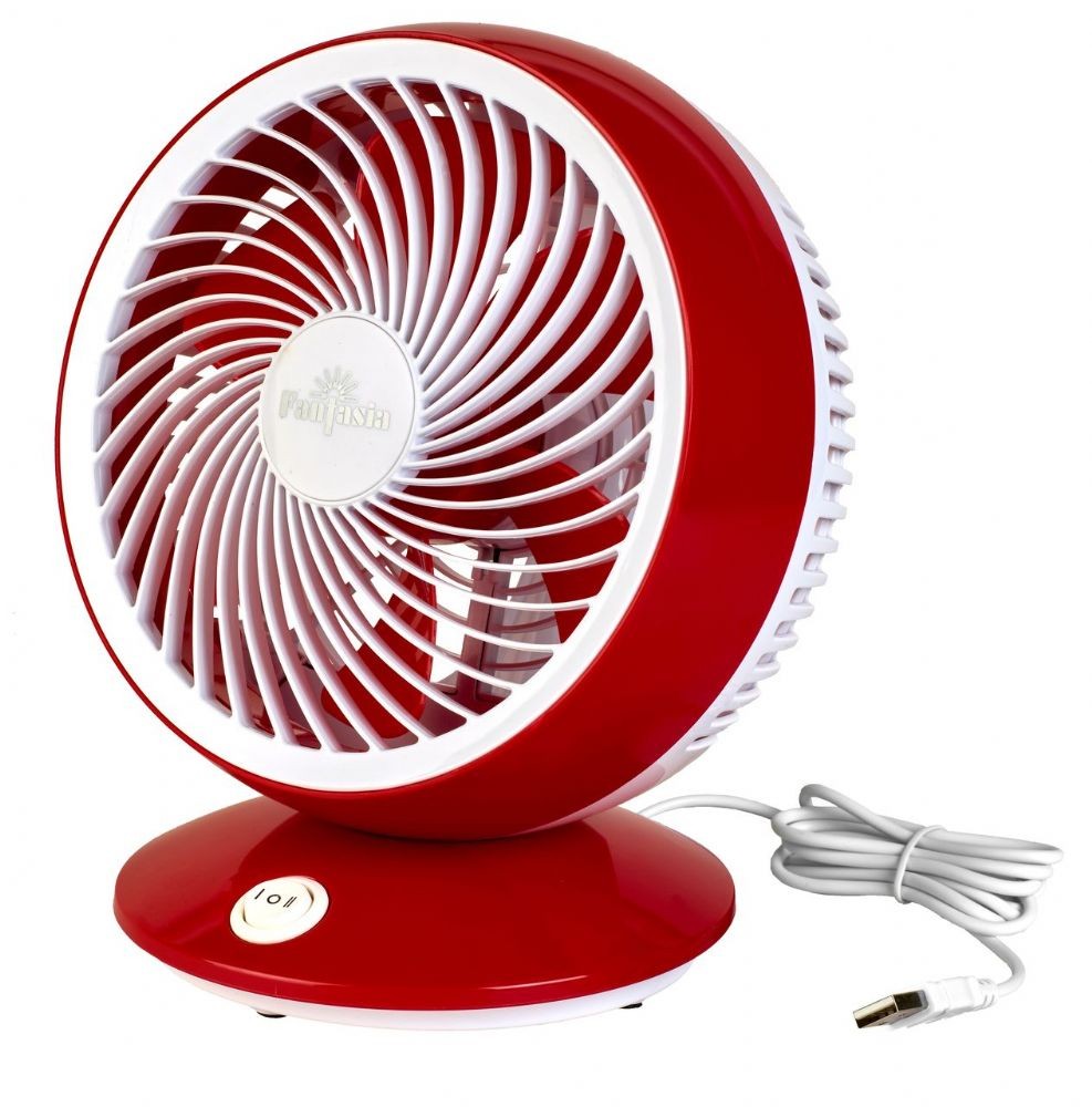 Fantasia USB Desk Fan in Red 119739